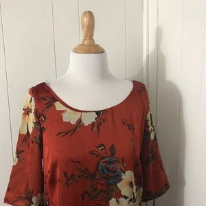 a.maglia Floral Printed Lined Shift Dress Sz L
